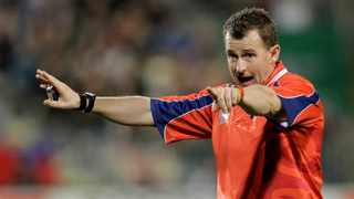 Referee Nigel Owens is currently on 98 tests. Photo: AP Photo/Themba Hadebe