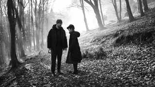 """Director Osgood """"Oz"""" Perkins with Sam Leakey, who makes his acting debut as Hansel, on the set of """"Gretel & Hansel"""". Picture: Supplied"""