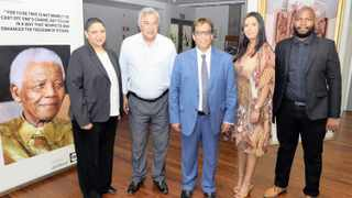 Independent Media has made several historic appointments to its editorial team. From left: Melanie Peters, the editor of Weekend Argus Sunday; Aneez Salie, editor-in-chief of the group; Independent Media executive chairman Dr Iqbal Survé; Yogas Nair, deputy editor-in-chief of the group; and Siyavuya Mzantsi, editor of the Cape Times. Picture: Ian Landsberg African News Agency (ANA)