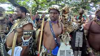 Zulu regiments gathered in Durban for the first time since the death of King Goodwill Zwelithini on March 12. Picture: Sihle Mavuso