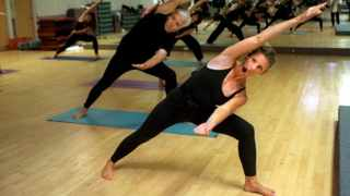 They asked 15 healthy middle-aged adults to do 90 minutes of yoga stretches, and took saliva samples before and after.