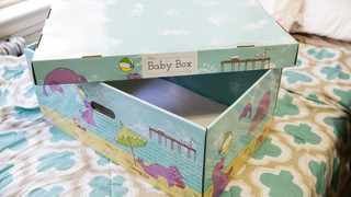 File photo: New Jersey became the first US state to send newborn babies and their parents home with a box that doubles as a crib and full of necessities, with the aim of cutting back on sudden infant death syndrome. Picture: AP