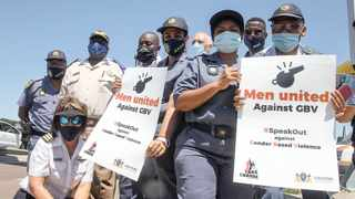 Police officers embarked on a roadshow yesterday to mark the start of the 16 Days of Activism for No Violence Against Women and Children. Picture: Jacques Naude/African News Agency (ANA)