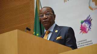 Newly elected President of the Republic of Guinea, Alpha Condé. Picture: Twitter - @AfricaUnion.