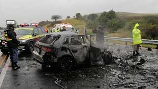 Four people were killed in a two-car collision on the N2 highway. Picture: Supplied