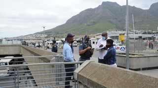 Soon after that incident at the station deck, two suspects aged 31 and 39 were apprehended, and a firearm was confiscated. Both suspects are expected to appear in the Cape Town Magistrate's Court this morning. Picture: Henk Kruger/African News Agency(ANA)