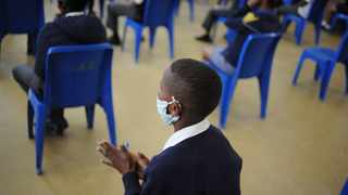 Pupils wearing facemasks. Picture Henk Kruger/African News Agency (ANA)