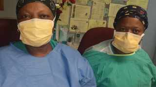 Healthcare workers Lichen Modiba and Kgadi Seema are confident to continue being at the Covid-19 battle field after being vaccinated. Picture: African News Agency (ANA)