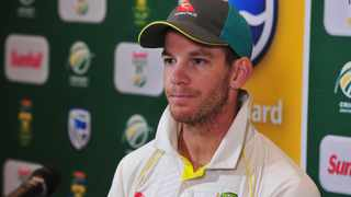 FILE - Australia captain Tim Paine has been fined 15% of his match fee for showing dissent at the umpire's decision during the third Test against India in Sydney. Photo: Phando Jikelo/African News Agency/ANA