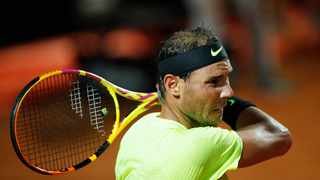 Spain's Rafael Nadal in action during his Italian Open quarter-final match against Argentina's Diego Schwartzman. Photo: Clive Brunskill/Reuters