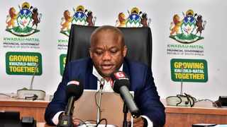 KZN Premier Sihle Zikalala speaking during a media briefing. Picture: Supplied