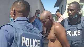 Police arresting a suspected police killer. Picture: Supplied