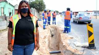 Tarryn du Plessis, a construction supervisor, who specialises in water works for Nejeni Construction and Project Management.Brendan Magaar/African News Agency (ANA)