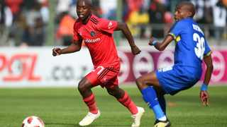Ben Motshwari, left, of Orlando Pirates has tested positive for the coronavirus. Picture: Phando Jikelo/African News Agency (ANA)