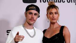 "Justin Bieber and his wife Hailey Bieber pose at the premiere for the documentary television series ""Justin Bieber: Seasons"" in Los Angeles. Picture: Reuters"