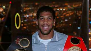 Promoter Eddie Hearn says Anthony Joshua's world heavyweight title defence againt IBF mandatory challenger Bulgarian Kubrat Pulev in June has not been postponed yet due to coronavirus, despite the opponent suggesting it would be moved. Photo: