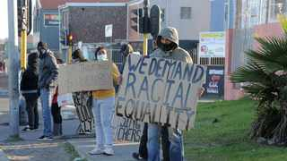 The Gatvol Capetonian movement protesting in Mitchells Plain on Monday. Picture: Brendan Magaar/African News Agency (ANA)