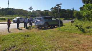 Two people were shot in a brazen drive-by in Cato Crest on Monday just after midday. Picture: Se-Anne Rall