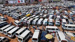 The road from Kampala, the capital of Uganda, to Jinja, the site of Africa's first electric bus factory, was packed with cars on a July morning. EPA/DAI KUROKAWA