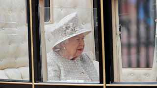 Britain's Queen Elizabeth rides in a carriage to attend the annual Trooping the Colour Ceremony in London, Saturday, June 8, 2019. Picture: AP Photo/Frank Augstein