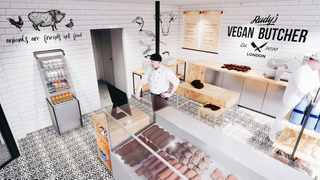 UK's very first permanent vegan butcher, Rudy's, had a successful launch, selling out of stock online on its first day of opening. Picture: Twitter