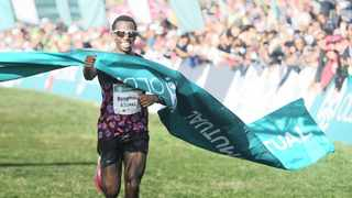 Two Oceans Marathon defending down-run champion, Bongmusa Mthembu, was keen to entrench his dominance in this year's edition of the competition but the coronavirus stifled his advancement. Photo: BackpagePix