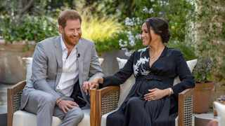 Britain's Prince Harry and Meghan, Duchess of Sussex, are interviewed by Oprah Winfrey. Picture: Harpo Productions/Joe Pugliese/Handout via Reuters