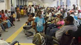 In this file picture, queues of people wait to be treated at Chris Hani Academic Baragwanath Hospital, Soweto. Picture: Dumisani Sibeko