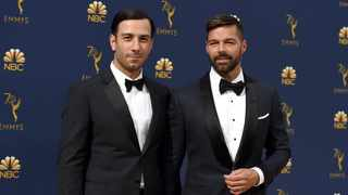 File photo: Jwan Yosef, left, and Ricky Martin arrive at the 70th Primetime Emmy Awards at the Microsoft Theater in Los Angeles. Picture: AP