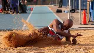 Luvo Manyonga set yet another SA long jump record in Potchefstroom on Saturday. Photo: Reg Caldecott