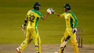 "Australian match winners Alex Carey and Glenn Maxwell adopted a ""hit or bust"" attitude to fire the touring side to a dramatic three-wicket victory over England on Wednesday and seal the one-day international series 2-1. Picture: Jason Cairnduff/AP"