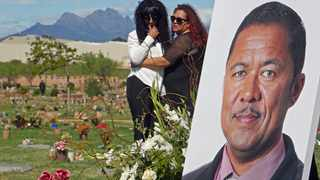 The funeral service of slain top cop Lieutenant Colonel Charl Kinnear was at the Every Nation Church auditorium in Goodwood and Durbanville Memorial Park. Picture: Ian Landsberg/African NewsAgency (ANA).