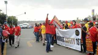 South African Federation of Trade Unions (Saftu) picket outside the Chris Hani Baragwanath Hospital during a nationwide general strike to highlight growing poverty, unemployment and inequality in the country.Picture: Itumeleng English/African News Agency(ANA)