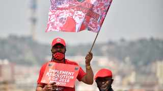 Members of Nehawu protesting outside the Union Buildings. Picture: Thobile Mathonsi/African News Agency (ANA)