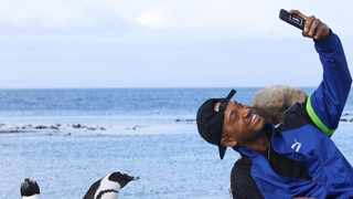 Celebrities visiting Cape Town, including Terrence J, Nina Dobrev and The Chainsmokers, added Boulders Beach to their itinerary. Picture: Instagram/Terrence J.