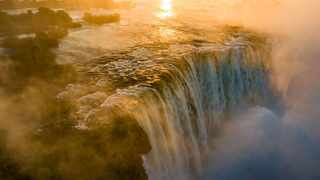 Victoria Falls, located on the Zambezi River, at the border between Zambia and Zimbabwe, is the largest waterfall in the world, measuring 1 708 metres wide and 108 metres high. Picture: Shaun McMinn