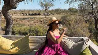 Award-winning content creator Mihlali Ndamase shared a glimpse into her recent bush break to Simbambili Game Lodge. Picture: Instagram/@mihlalii_n.
