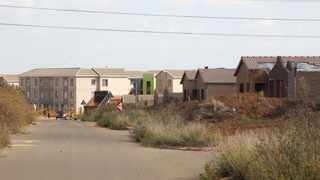 The incomplete housing project in Nellmapius, near Solomon Mahlangu Drive. Picture: Jacques Naude/African News Agency (ANA)