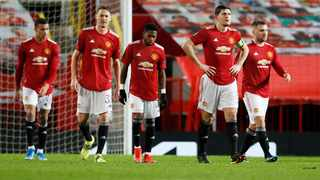 Manchester United's Harry Maguire and teammates. File picture: Phil Noble/Reuters