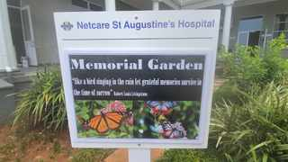 St Augustine's Hospital has unveiled a memorial garden dedicated to healthcare workers who have died from Covid. Picture: Supplied