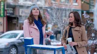 Lauren Graham and Alexis Bledel star in 'Gilmore Girls', one of the many shows and movies people are rewatching during the quarantine. Picture: Saeed Adyani/Netflix