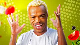 Somizi Mhlongo-Motaung in his latest cooking show 'Dinner at Somizi's' on 1Magic. Picture: Supplied