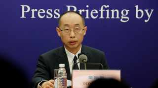 Tong Yigang, professor at Beijing University of Chemical Technology, attends a news conference on the WHO-China joint study on the origins of Covid-19, in Beijing. Picture: Thomas Suen/Reuters