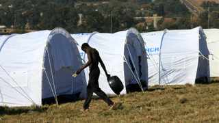 As a result of the 2008 xenophobic violence, about 100 000 African nationals were forced to seek refuge in camps set up in Joburg. File picture: Werner Beukes