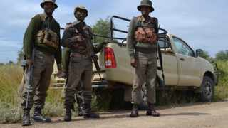 Some game rangers are seen at the Kruger National Park. Photo: Dale Hes/AENS