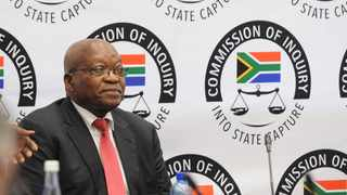 Former president Jacob Zuma appears at the Zondo Commission. File picture: Karen Sandison/African News Agency (ANA)
