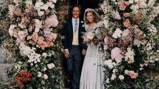 In this photograph released by the Royal Communications of Princess Beatrice and Edoardo Mapelli Mozzi. Picture: Benjamin Wheeler/Royal Communications of Princess Beatrice and Edoardo Mapelli Mozzi via AP