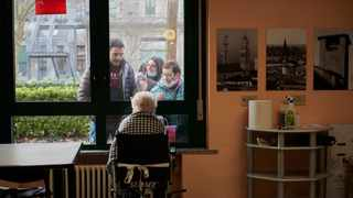 During the pandemic, nursing home residents have only been able to see relatives through a window. Picture: Chiara Goia/The Washington Post