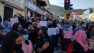 Members of the Bo-Kaap community staged a demonstration in support of survivors and victims of gender-based violence and sexual assault. Picture: Shakirah Thebus/Cape Argus