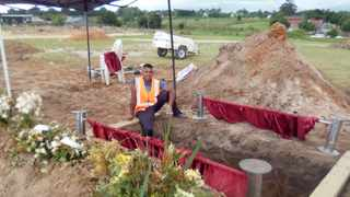 Gustav Appels, 19, works at the graveyard in George to help pay for his school fees. Picture: Supplied